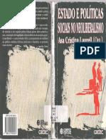 Estado e Políticas Sociais No Neoliberalismo-Asa Cristina Laurell(Org.) 3ª. Edição