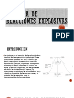 Cinética de Reacciones Explosivas