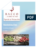 Marketing Plan for Bacco Srl