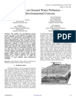 A Review on Ground Water Pollution – An Environmental Concern