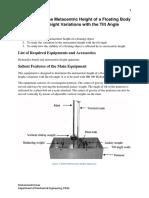 Metacentric Height Apparatus(Instruction)