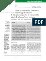 Evaluación de La Actividad de Colinesterasa, Medio Ambiente y Geolocalización