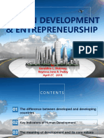 Entrepreneurship and Human Development Report