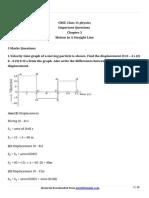 11 Physics Imp Ch3 Marks 5