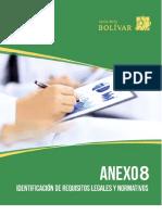 Anexo 8. Identificación de Requisitos Legales y Normativos