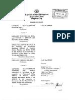 Leviste Mnagement System vs. Legaspi Towers (1)