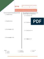 Lista de Exercícios 163 - Equação Da Reta Com Ponto e Declividade Conhecidos (2)