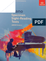 ABRSM - Piano Specimen Sight-reading Tests Grade 6