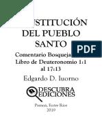 Constitucion Del Pueblo Santo Comentario
