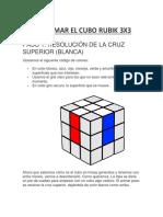 Como Armar El Cubo Rubik 3x3 método principiante