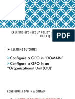 Creating Gpo (Group Policy Object)