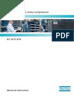 Manual de instrucciones Compresor Atlas Copco G7, G11, G15