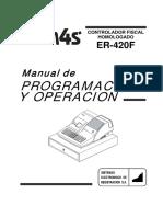 ER 420F Manual de Programacion
