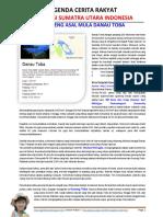Legenda Sumatra Utara - Dongeng Asal Mula Danau Toba