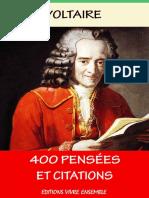 400 Pensées Et Citations de Voltaire