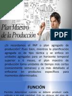 Plan maestro de la producción