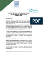 Norma Tecnica Hidrometros Para El Servicios de Acueducto