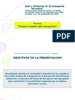 Cos to s to Tales Del Transport e