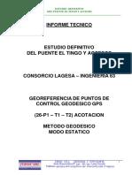 Informe Georeferencia Puente Tingo Cajamarca