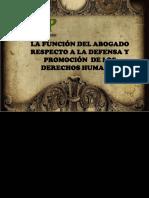 FUNCIÒN DEL ABOGADO RESPECTO A LA DEFENSA Y PROMOCION DE LOS DD.HH.