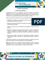 AA4 Evidencia Diseno de Instrumentos Evaluativos