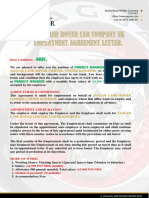 JAGUAR LAND ROVER UK EMPLOYMENT AGREEMENT LETTER. (1).pdf