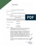 Ley 996 de Amnistía Nicaragua