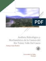 Análisis Hidrológico y Morfométrico de La Cuenca Del Rio Tuluá