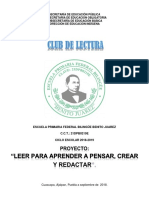 PROYECTO - LECTURA