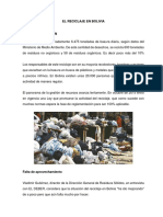 El Reciclaje en Bolivia