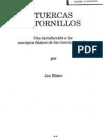 XXIV - Elster, Jon. 1993. Tuercas y Tornillos - Pp.31-49