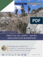 INFORME SOBRE MAPEO GEOLOGICO FAIM-UNCP-Huancayo,Peru