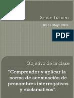Sexto Básico 03 de Mayo