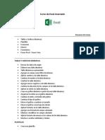 Temario - Excel Avanzado