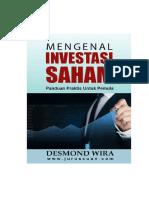 Mengenal Investasi Saham - Desmond Wira