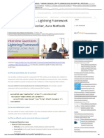 Interview Questions – Lightning Framework – Part 8 – Lightning Locker, Aura Methods – SFDCFacts