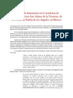Coloquio Internacional de La Academia Alonso de La Veracruz