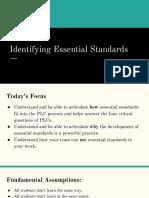 Identifying Essential Standards Presentation