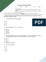 Pruebas Formativa Primero Medio Algebra Pro.not