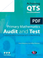 (Achieving QTS) Claire Mooney, Mike Fletcher - Primary Mathematics_ Audit and Test_ Assessing Your Knowledge and Understanding (Achieving Qts)-Learning Matters (2007)