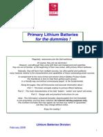 Primary Lithium Battery Guide (TM SAFT Li 200802 en)