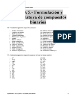 Ejercicios Del Tema 5 (Formulación y Nomenclatura de Compuestos Binarios)