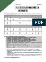 Ejercicios RESUELTOS Del Tema 4 (Estructura de La Materia)