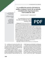 Revalida título de médico en Chile