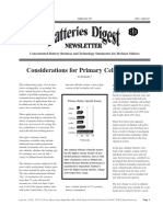 Considerations for Primary Cell Selection - Battery Digest