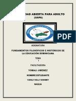 1 FUNDAMENTOS FILOSÓFICOS E HISTÓRICOS DE LA EDUCACIÓN DOMINICANA.docx