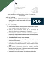 """Equipo 2 Admon de Proyectos """"Programa de Mantenimiento Preventivo y Correctivo"""