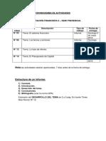 Cronograma Administración Financiera II