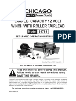 3,000 LB. CAPACITY 12 VOLT WINCH WITH ROLLER FAIRLEAD