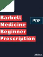 Barbell Medicine Beginner Prescription